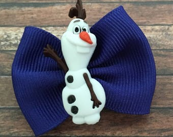 Disney Frozen Olaf Bow for Dogs or Infants-Disney Frozen Olaf Dog Bow-Olaf Baby Bow-Tiny Frozen Olaf Bow