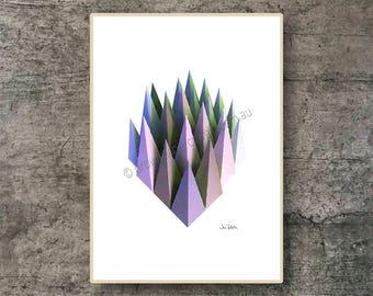 Printable wall art - Downloadable art – Instant download art –  Downloadable abstract - Art prints - Poster - Geometric art