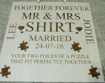 Plaque Weddings birthday anniversary
