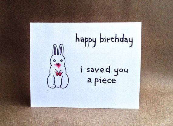 Items similar to killer bunny watercolor hand lettered birthday card items similar to killer bunny watercolor hand lettered birthday card monty python inspired on etsy bookmarktalkfo Gallery