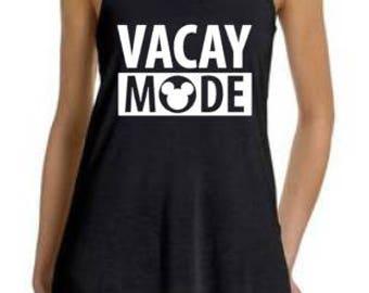 Disney Vacay Mode, Vacay Mode, Disney Tank, Disney Family Shirts, Run Disney, Disney Villains, Disney Tank Top