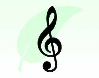 Treble Clef Vinyl Decal Sticker 032