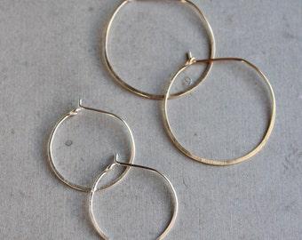 Simple Hoops, delicate hoop earrings, modern geometric jewelry