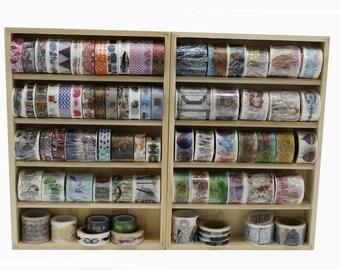 Wooden Washi tape Storage Case/ Masking Tape Organizer / Washi Tape Holder/ Cosmetic Case/Wooden Frame for Washi tape TZ1657
