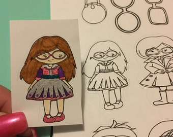 Planner Stickers: Color Me Fashion Girls