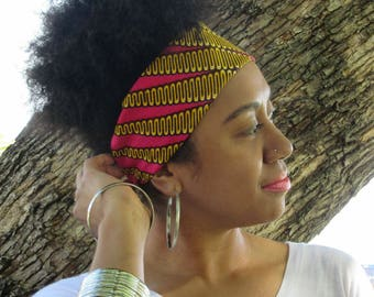 Headband Pink Yellow - EFEMENA