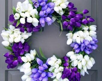 Purple Tulip Wreath