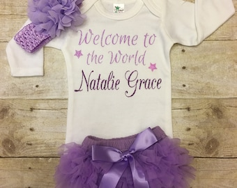 Baby take home outfit, Infant girl coming home outfit, baby girl, hospital outfit, newborn girl outfit, newborn take home