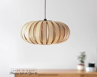 Pendant Light Beautiful Ash And Birch Modern Natural Wood Veneer Exclusive  Lamp Pendent Lampshade Lighting Patio