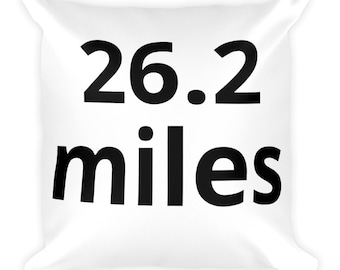 FORDY RUNS 26.2 Miles Square Pillow