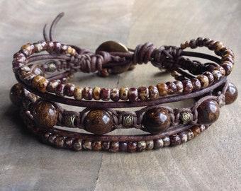 Bohemian bracelet earthy bracelet hippie bracelet womens jewelry boho chic bracelet gift for her boho bracelet gemstone bracelet rustic