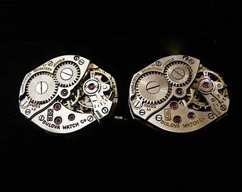 Steampunk watch movements cufflinks - Industrious - Steampunk - Cufflinks - Cuff Links -Repurposed - Up cycled