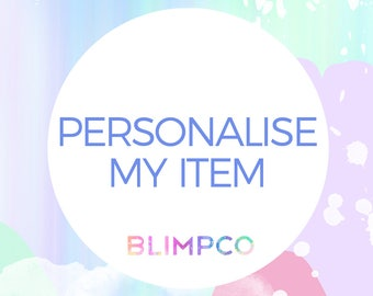 Personalise my item - for any digital item in store