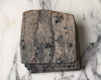 Natural Stone Coasters | Set of 4