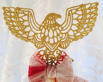Eagle Cupcake Topper - Eagle Cake Topper - Military Welcome Home Party - Army - Marines - Air Force - Navy - Customized