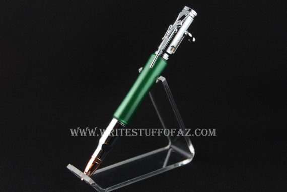 30 Caliber (.308) Bolt Action Pen in Metallic Green