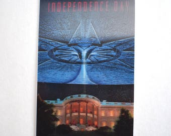 Vintage 3D Independence Day Movie Promo