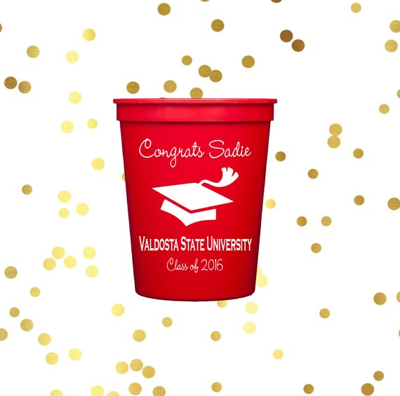 Graduation plastic cups, Personalized stadium cups, graduation party favors, party cups, personalized cups, class of 2017 graduation party