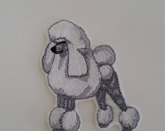 Poodle iron on or sew on patch Poodle applique Dog iron on patch Poodle sew on patch 6 cm x 4.6 cm ( 2.36'' x 1.81'') dog patch Animal patch