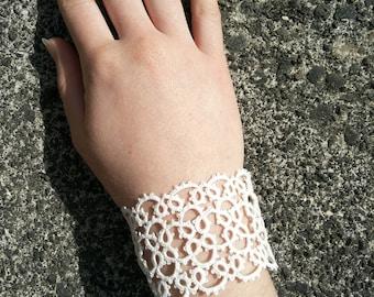 White tatting Cuff Bracelet