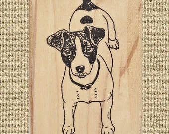 Jack Russell Terrier Rubber Stamp #255