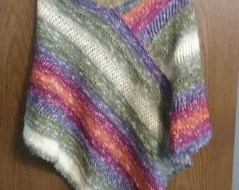Light weight Knit Poncho Wrap