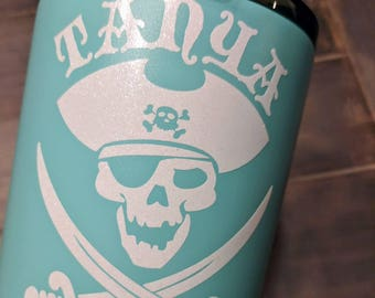 Personalized Vinyl decal, glossy, glitter, Pirate