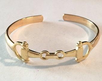 equestrian cuff bracelet