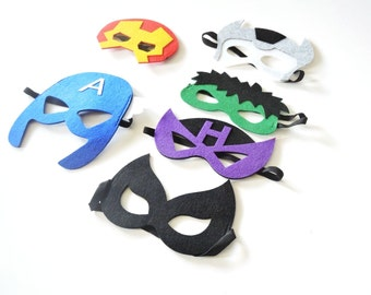 Avengers Superhero Mask - Birthday Party - Party Favors - Avengers Mask - Superhero birthday party - Superhero Cape - SuperHero Outfit