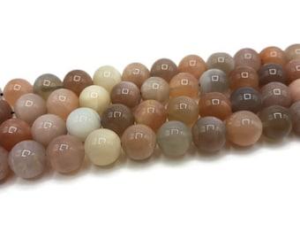 10 beads Moonstone natural 10 mm - stone semi precious stone of gemstone - A003
