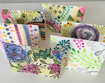 Hand-Painted Note Cards