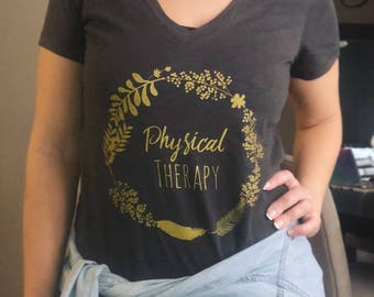 Physical Therapy Dark Grey tee shirt