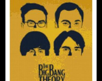 Big Bang Theory Cross Stitch Pattern - Bazinga - PDF Download