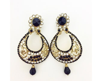 Indian Earrings Bollywood Fashion Ethnic Earrings Dangle Statement Earrings Indian Wedding Reception Earrings Indian Jewelry