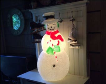 Union Products Blow Mold Light Up Snowman Christmas Inc