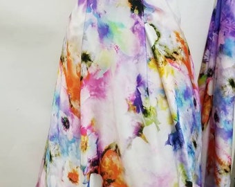 Printed Flowy Charmeuse Dress Fabric
