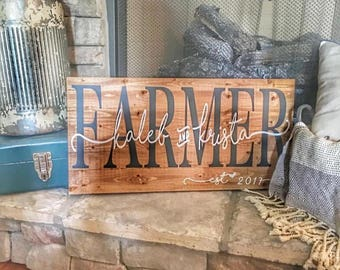 LOCAL pick up only! Custom couples sign!