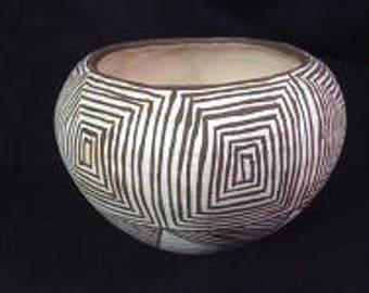 Native American Vintage Mini Acoma Pottery, Ca 1960's, #1230