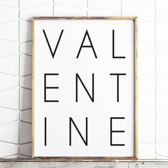 Valentine Print