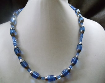 Jordan blue statement necklace
