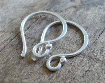 12 pairs of my Ball End Twinkle Fine Silver Earwires - Handmade. Handforged