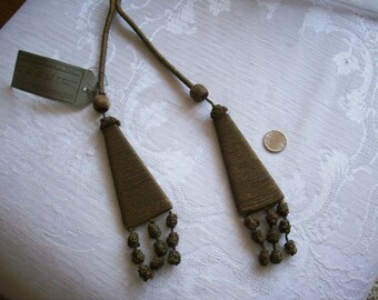 French gold metal bullion tassels 2 on cord