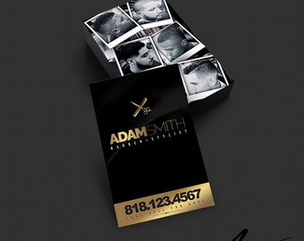 Barber business card design barber salon hair stylist business card design barber salon stylist hairdresser black gold colourmoves