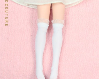 SK Couture White Stockings for Blythe Azone Pure Neemo Obitsu Barbie
