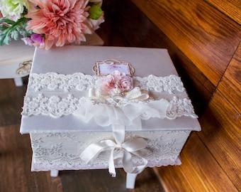 Beautiful fabric white box