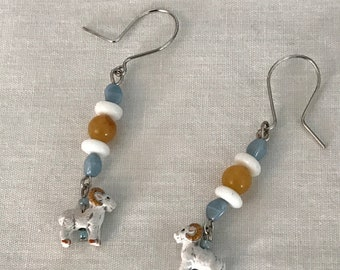 Tarheels Ram Earrings
