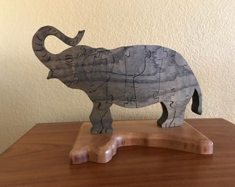 Elephant, wood puzzle (not for young children)