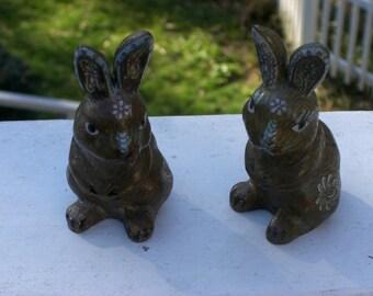Bunny - Cloisonne - Sitting up - Easter Bunny - Vintage