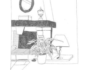 Yens - riso print (black)