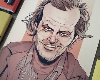 The Shining Art Print - Jack Nicholson as Jack Torrance
